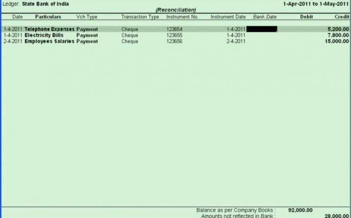 Bank reconciliation statement in tally erp 9 Can download on on a