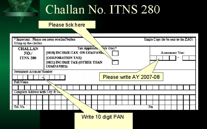 Online income tax payment challan 280 Can download free on a forum